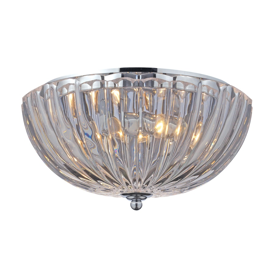 Westmore Lighting 12-in W Polished Chrome Flush Mount Light