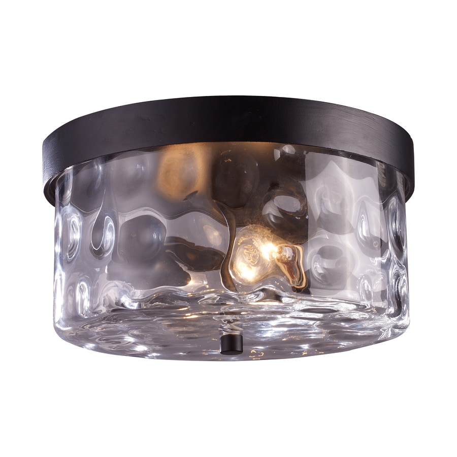Westmore Lighting Outdoor 11-in W Hazelnut Bronze Outdoor Flush-Mount Light