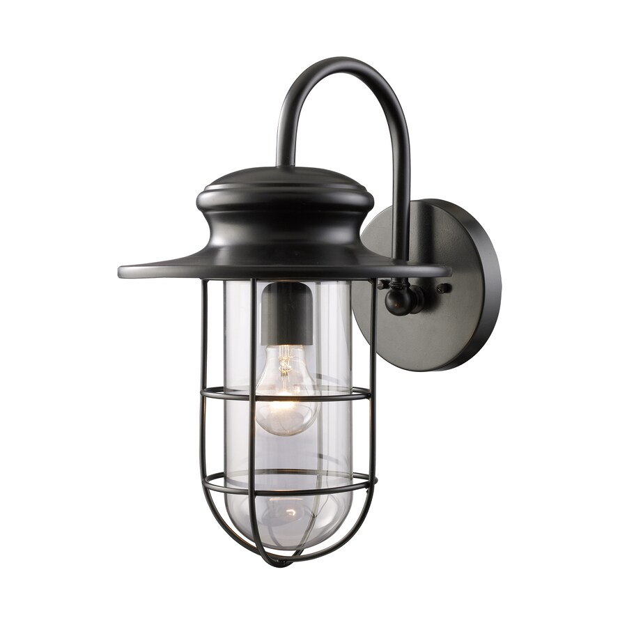 Westmore Lighting Hastings 17.5-in H Matte Black Outdoor Wall Light