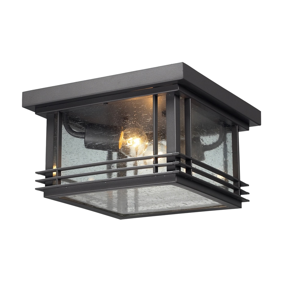 Shop Westmore Lighting Outdoor 11 In W Graphite Outdoor Flush Mount Light At