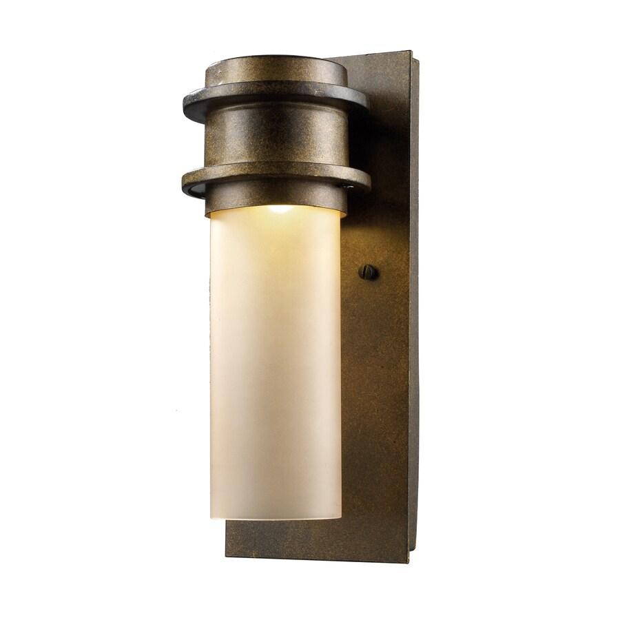 Westmore Lighting Jaffa 12-in H LED Hazelnut Bronze Outdoor Wall Light