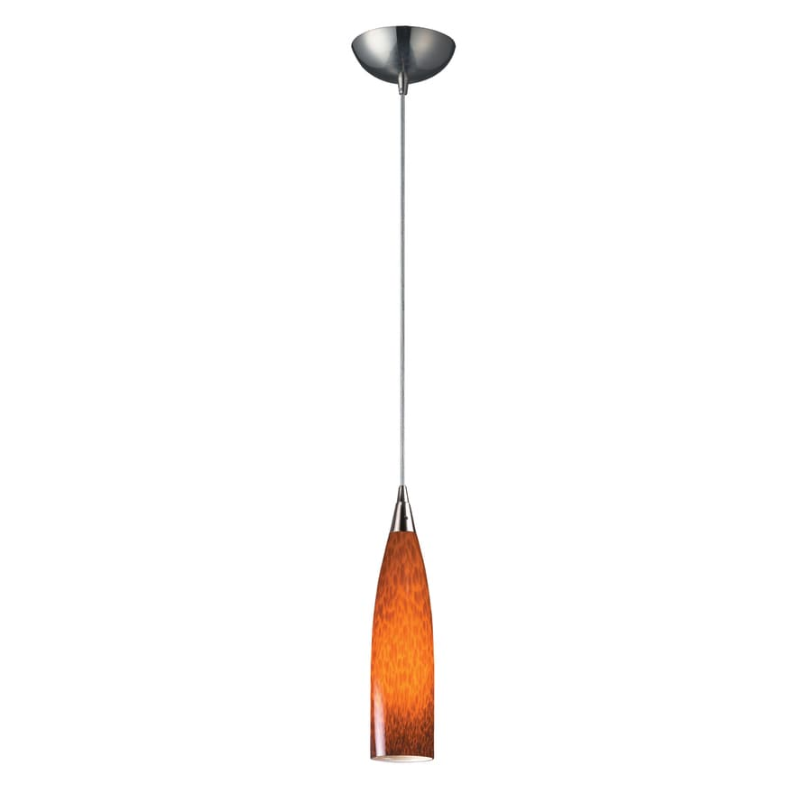 Teardrop Glass Vanity Light : Shop Westmore Lighting 3-in Satin Nickel Mini Tinted Glass Teardrop Pendant at Lowes.com