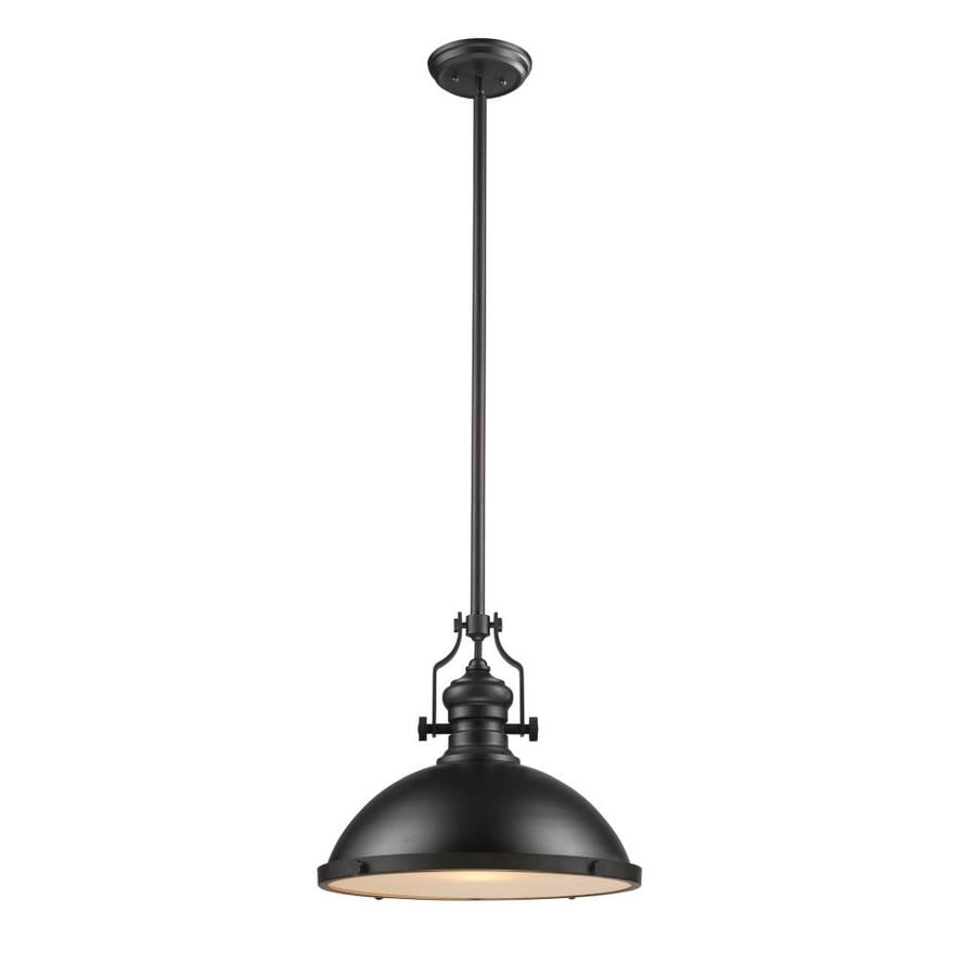 Westmore Lighting Chiserley 17-in Oiled Bronze Industrial Single Dome Pendant