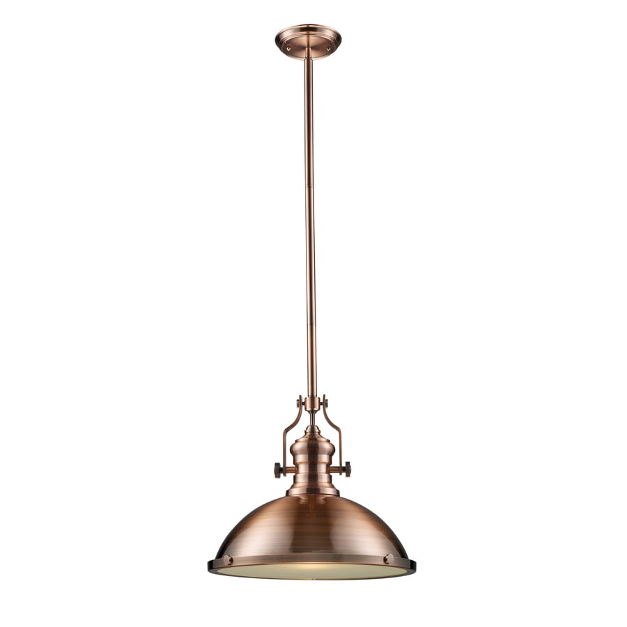 Westmore Lighting Chiserley 17-in Antique Copper Industrial Single Dome Pendant