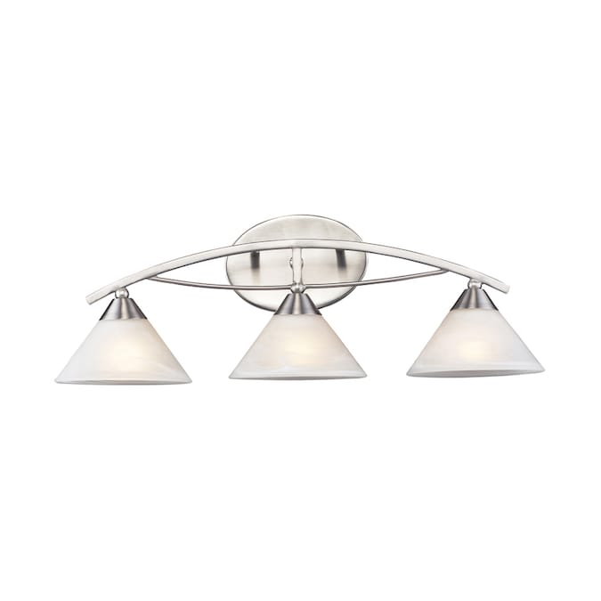 Portfolio 3 Light Satin Nickel Bathroom Vanity Light In The Vanity Lights Department At Lowes Com