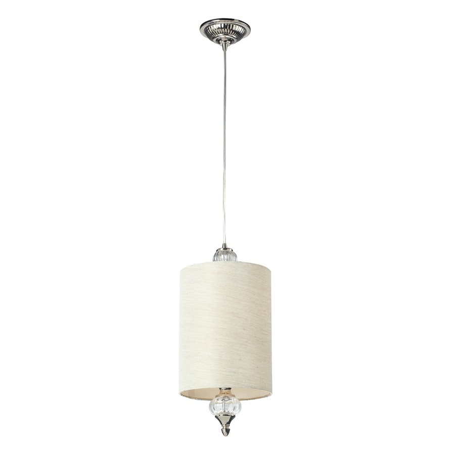 Westmore Lighting Medford 8-in Polished Nickel Mini Cylinder Pendant