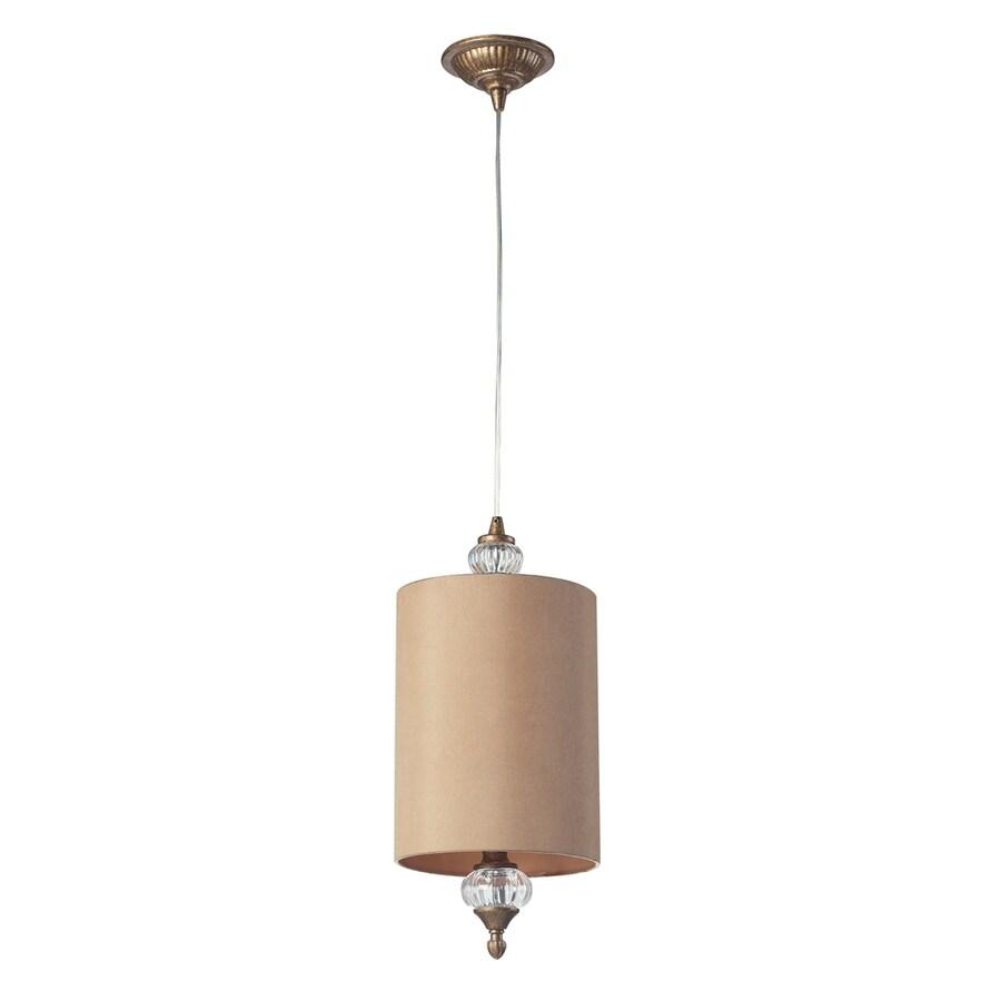 Westmore Lighting Medford 8-in Mocha Mini Cylinder Pendant
