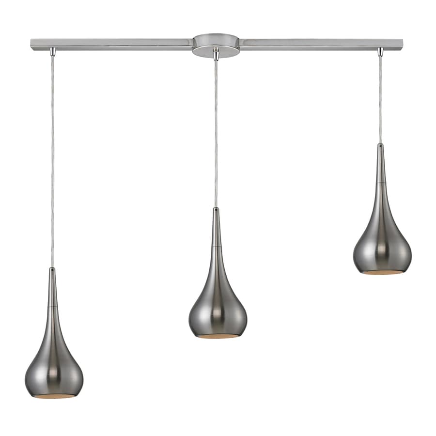 Westmore Lighting Sydney 36-in Satin Nickel and Nickel Mini Teardrop Pendant