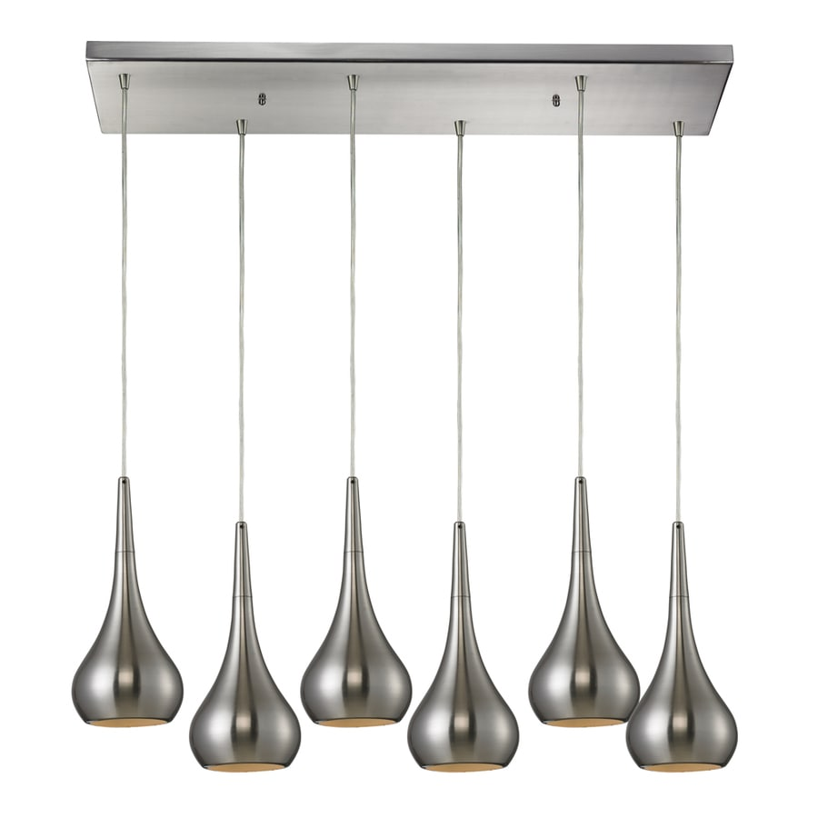 Westmore Lighting Sydney 30-in Satin Nickel and Nickel Mini Teardrop Pendant