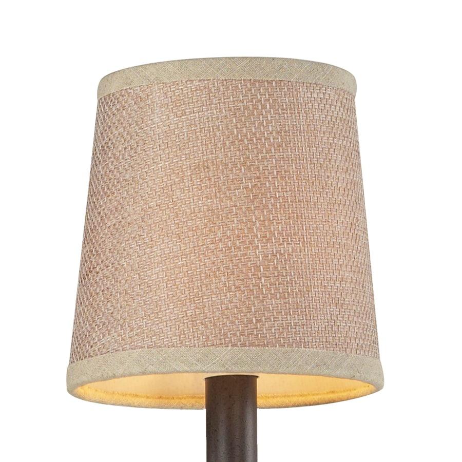 Westmore Lighting 5-in x 5-in Tan Textured Linen Fabric Drum Lamp Shade