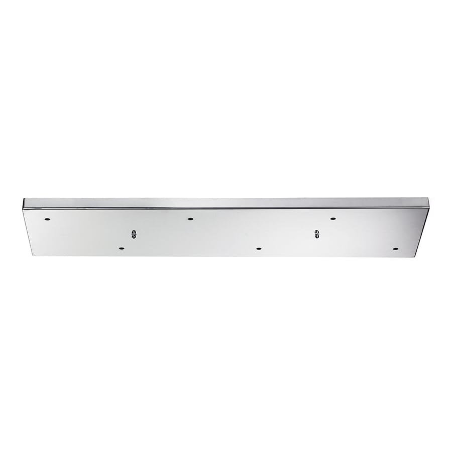 Westmore Lighting Crosse Polished Chrome Metal Ceiling Light Mount