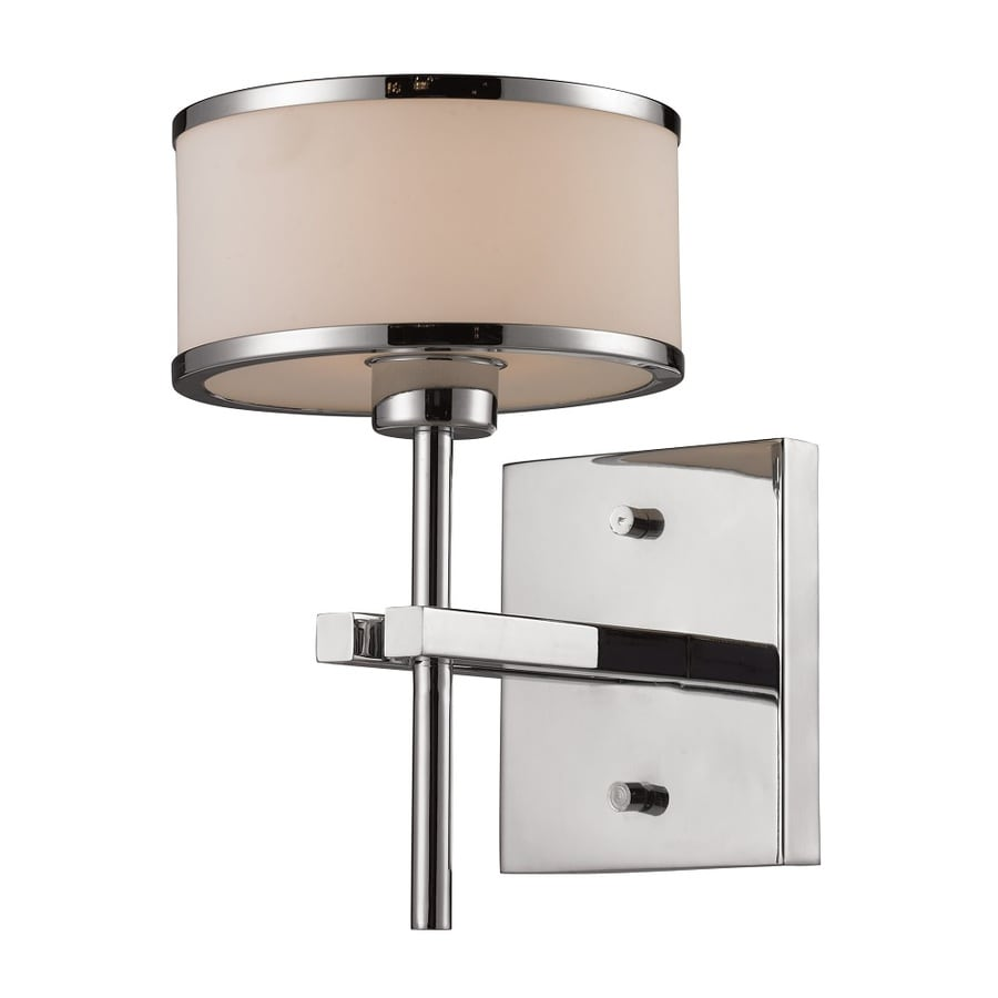Blown Glass Vanity Light : Shop Westmore Lighting Lufton 1-Light 10-in Polished Chrome with White Blown Glass Drum Vanity ...