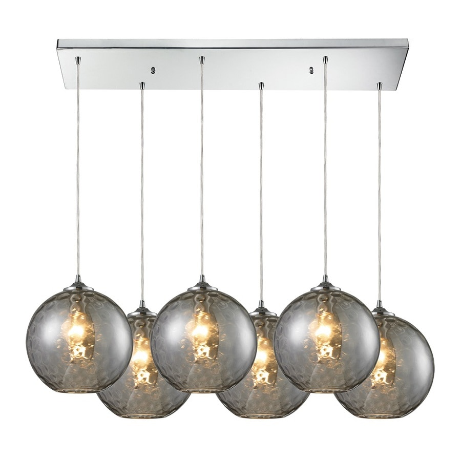 Westmore Lighting Lochmere 10 In Polished Chrome And Smoke Glass Mini Tinted Globe Pendant