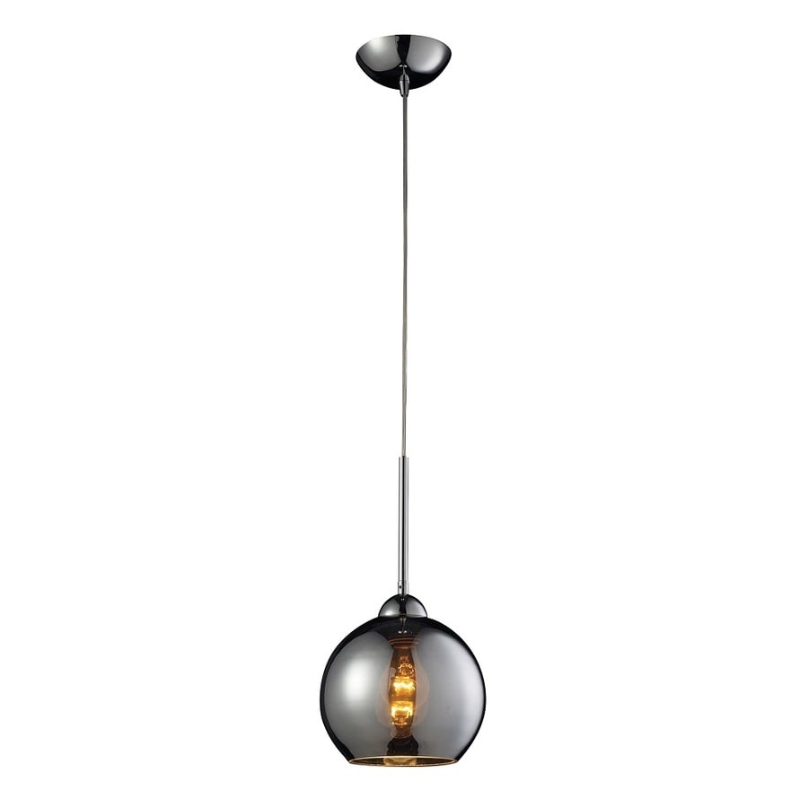 Westmore Lighting Swancott 8-in Polished Chrome and Chrome Glass Mini Tinted Glass Globe Pendant