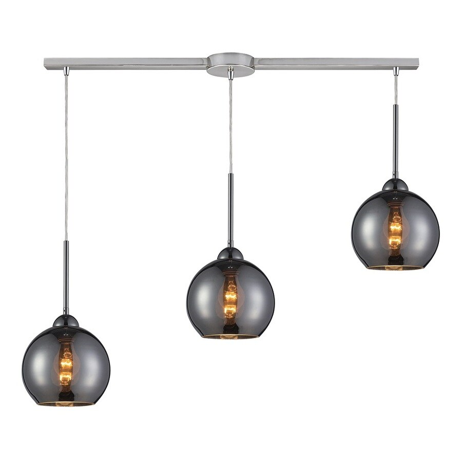 Westmore Lighting Swancott 10-in Polished Chrome and Chrome Glass Mini Tinted Glass Globe Pendant