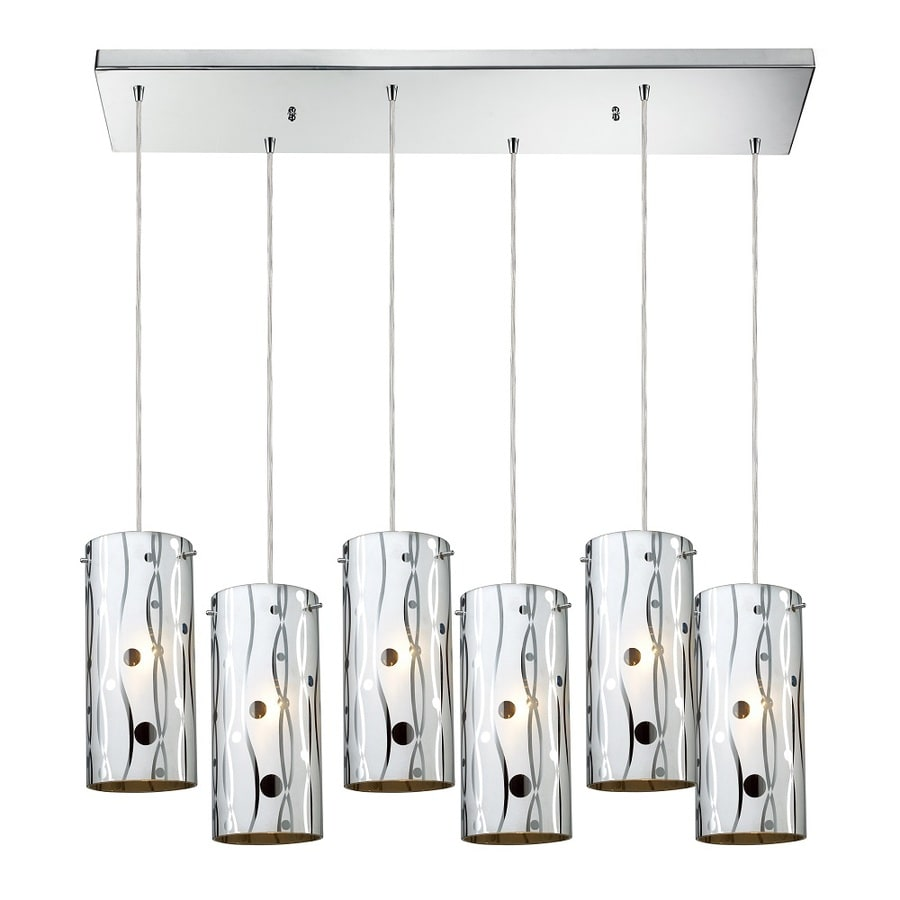 Westmore Lighting Pavant 30-in Polished Chrome and Tinted Glass Mini Tinted Glass Cylinder Pendant