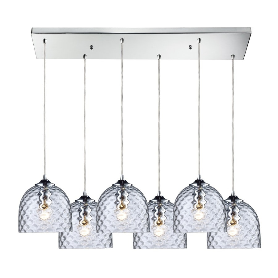 Westmore Lighting Avia 30-in Polished Chrome and Clear Glass Mini Clear Glass Globe Pendant