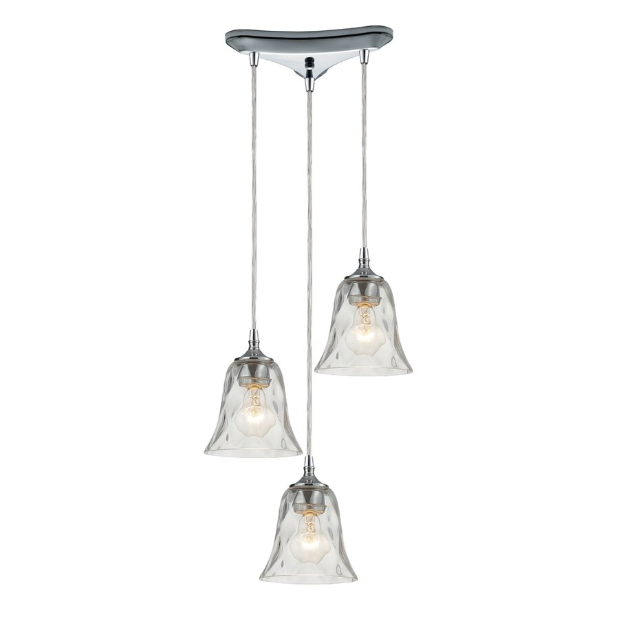 Westmore Lighting Erinfield 10-in Polished Chrome and Clear Glass Mini Clear Glass Bell Pendant