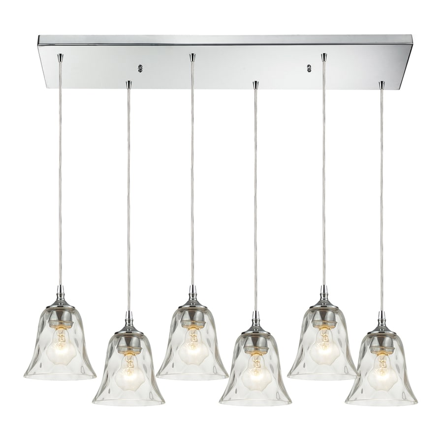 Westmore Lighting Erinfield 36-in Polished Chrome and Clear Glass Mini Clear Glass Bell Pendant