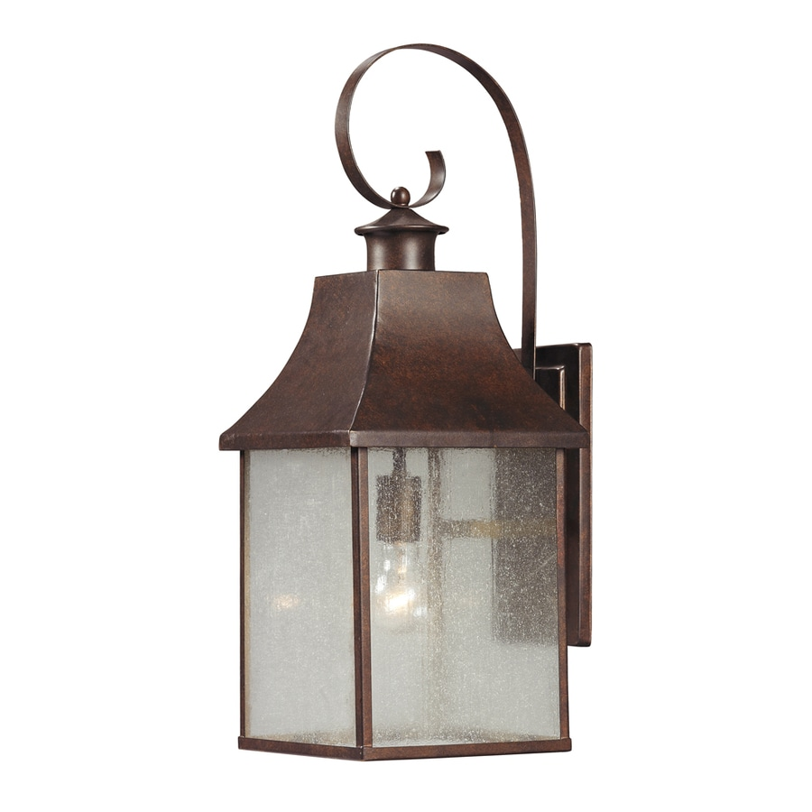 Westmore Lighting Helmshore 24-in H Hazelnut Bronze and Seedy Glass Outdoor Wall Light