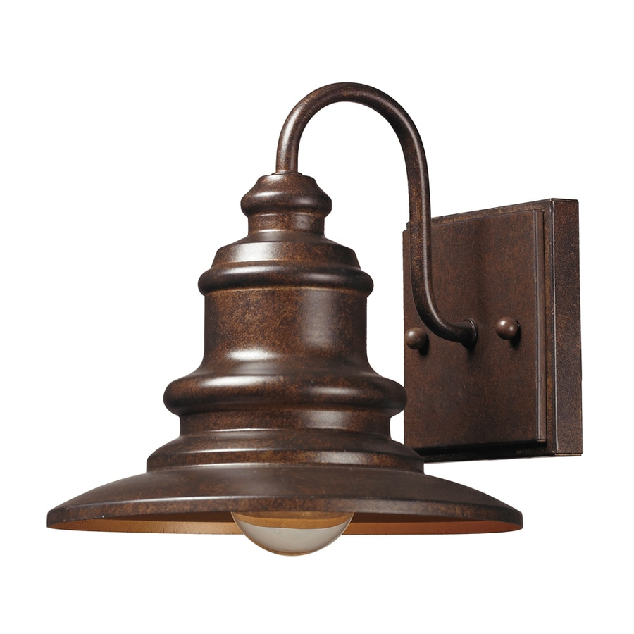 Westmore Lighting Claughton 8-in H Hazelnut Bronze Outdoor Wall Light