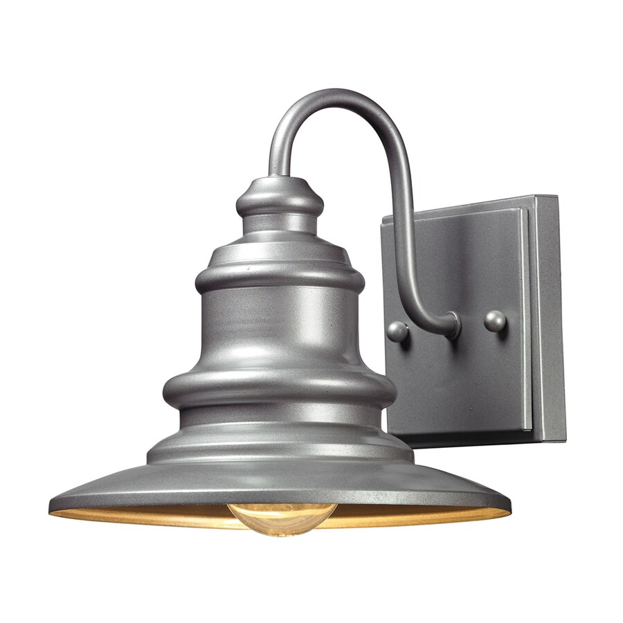 Westmore Lighting Claughton 8-in H Matte Silver Outdoor Wall Light