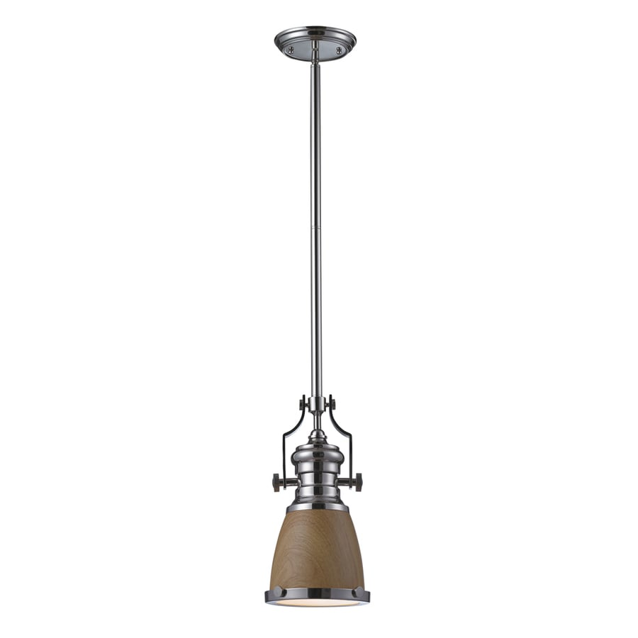 Westmore Lighting Chiserley 8-in Polished Nickel Industrial Mini Tinted Glass Pendant