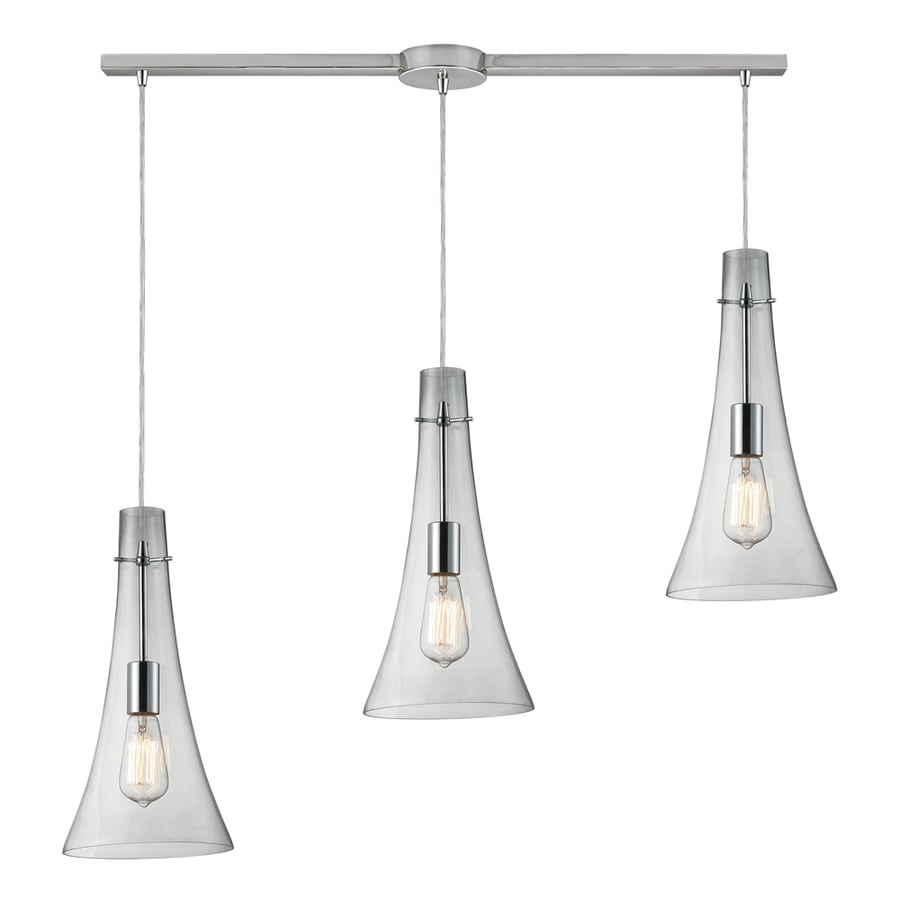 Westmore Lighting Alvingham 5-in Polished Chrome and Clear Glass Mini Clear Glass Oval Pendant