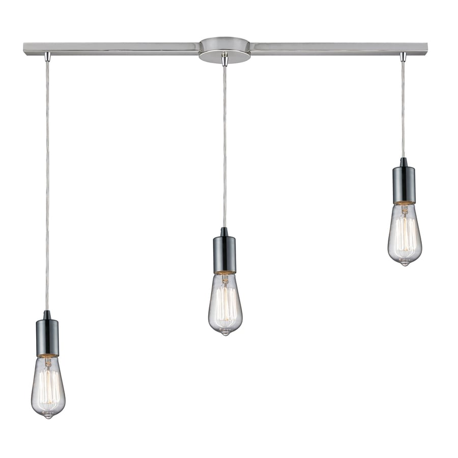 Westmore Lighting Alvingham 30-in Polished Chrome Mini Clear Glass Pendant