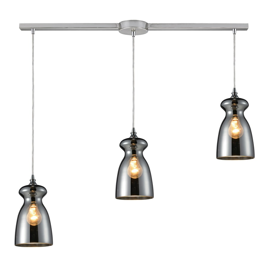 Westmore Lighting Alvingham 36-in Polished Chrome and Mercury Blown Glass Mini Tinted Glass Pendant