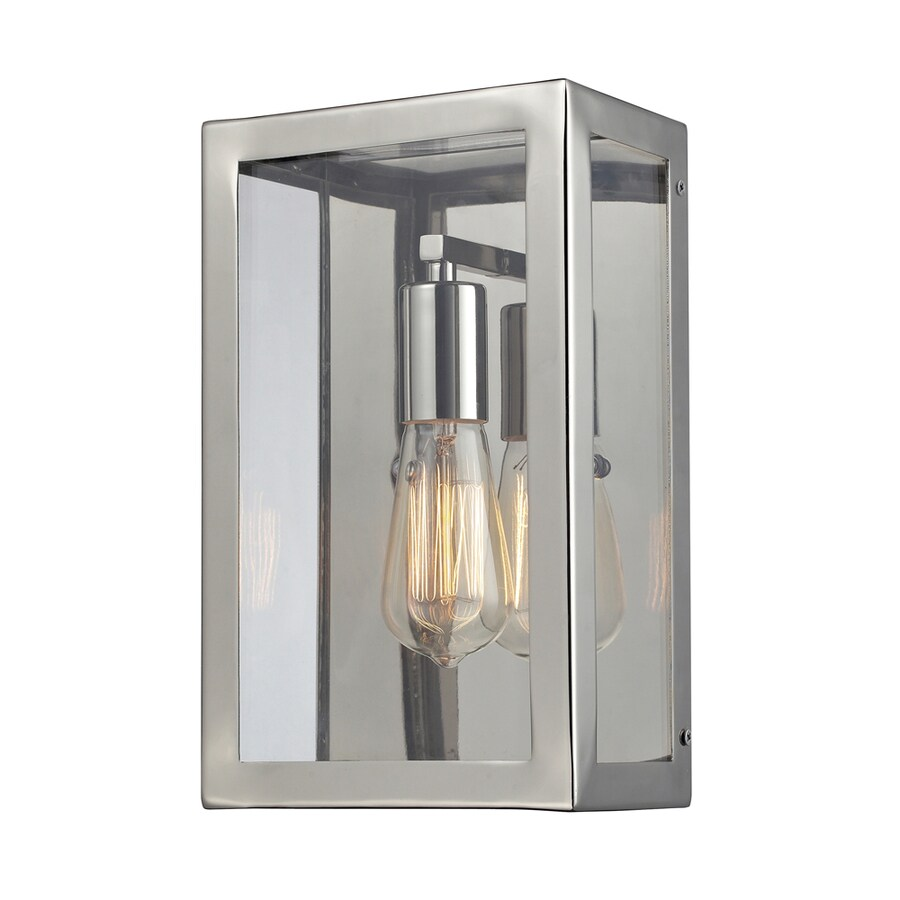 Westmore Lighting Beamsley 7-in W 1-Light Polished Nickel Pocket Wall Sconce