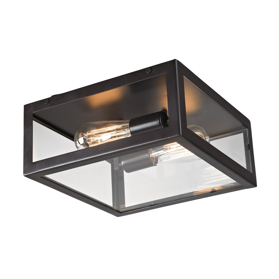 Westmore Lighting Beamsley 12-in W Oiled Bronze Standard Flush Mount Light