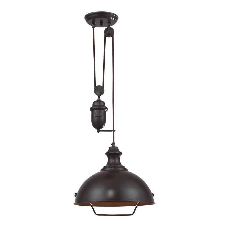 Farmhouse Kitchen Light Fixtures Lowes: Shop Westmore Lighting Crossens Park 14-in Oiled Bronze