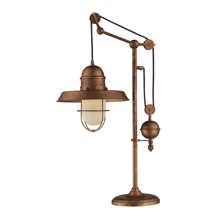 Westmore Lighting Crossens Park 32-in Oxford Copper Indoor Table Lamp with Metal Shade