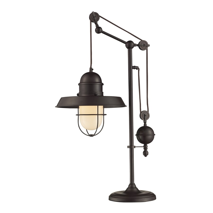 Westmore Lighting Crossens Park 32-in Oiled Bronze Indoor Table Lamp with Metal Shade