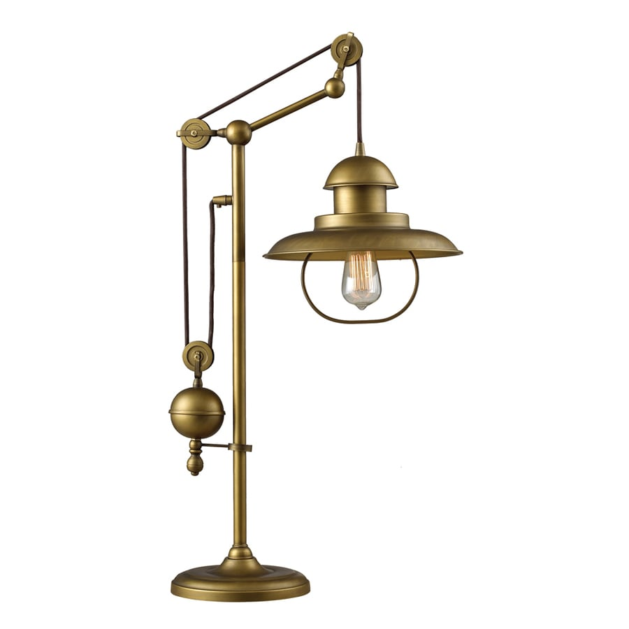 Westmore Lighting Crossens Park 32-in Antique Brass Table Lamp with Metal Shade