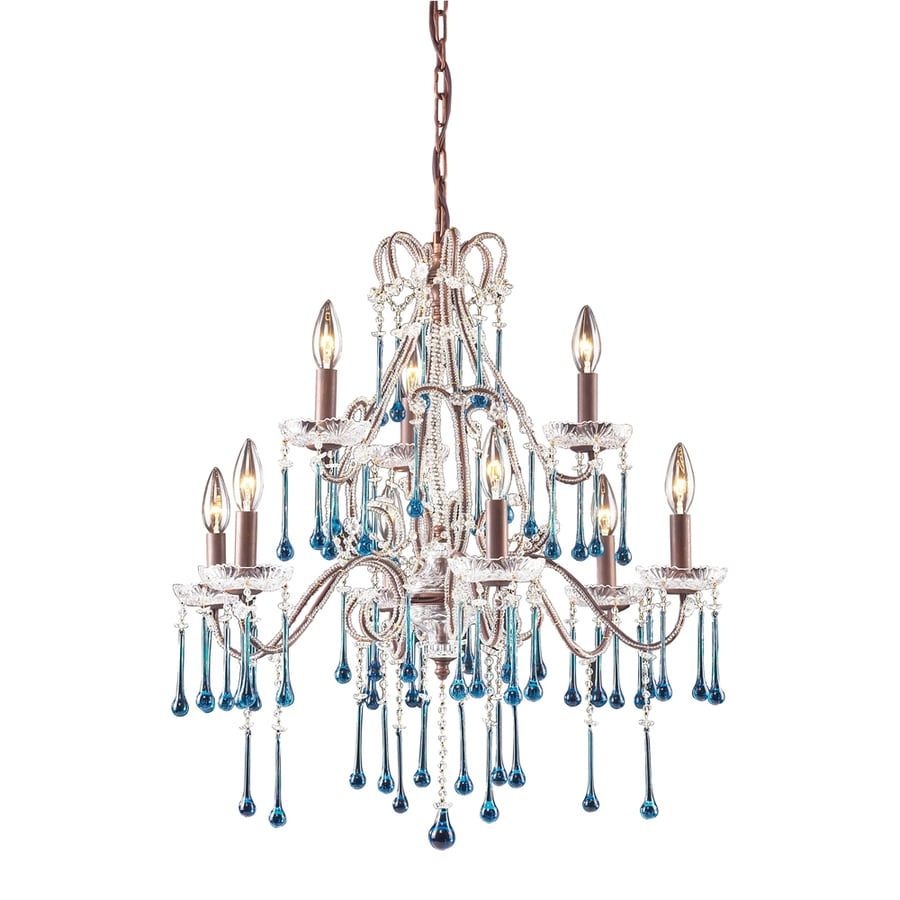 Shop westmore lighting whitehall 25 in 9 light rust Crystal candle chandelier