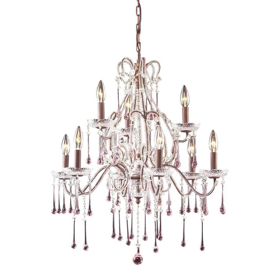 Westmore Lighting Whitehall 25-in 12-Light Rust Crystal Candle Chandelier