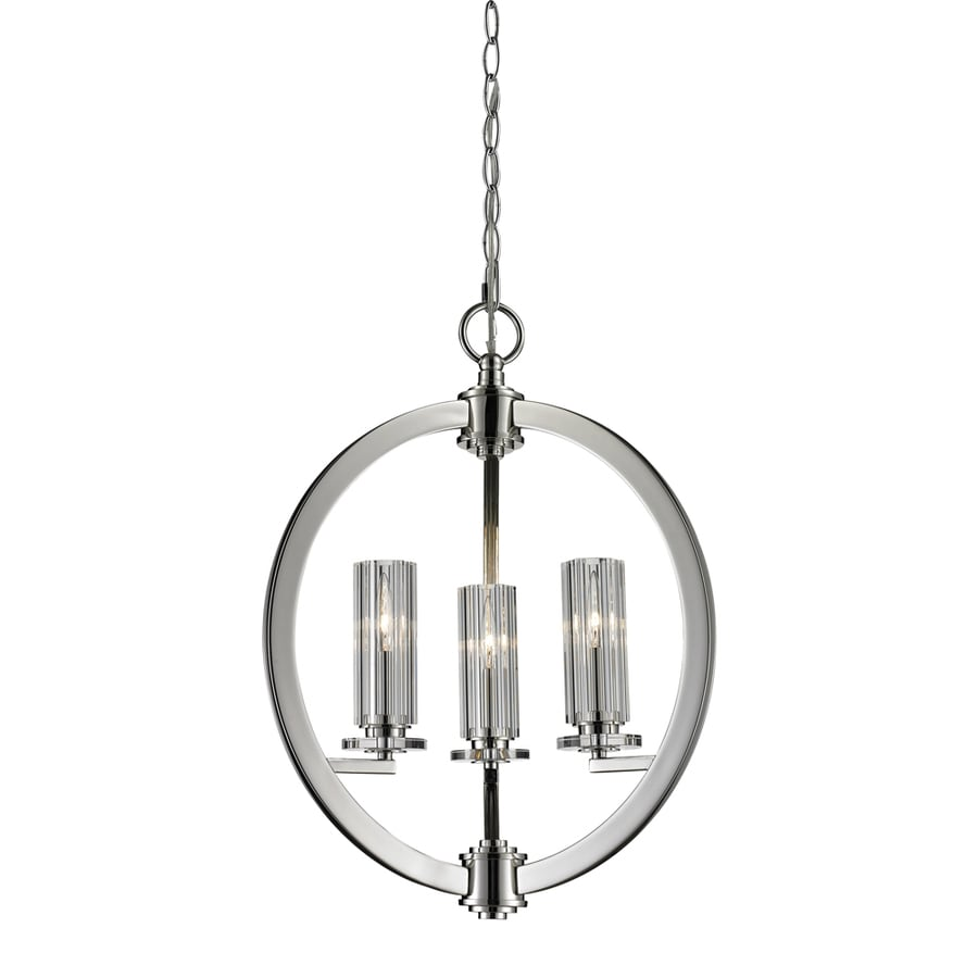 Westmore Lighting Glaisdale 16-in Polished Nickel Single Crystal Pendant
