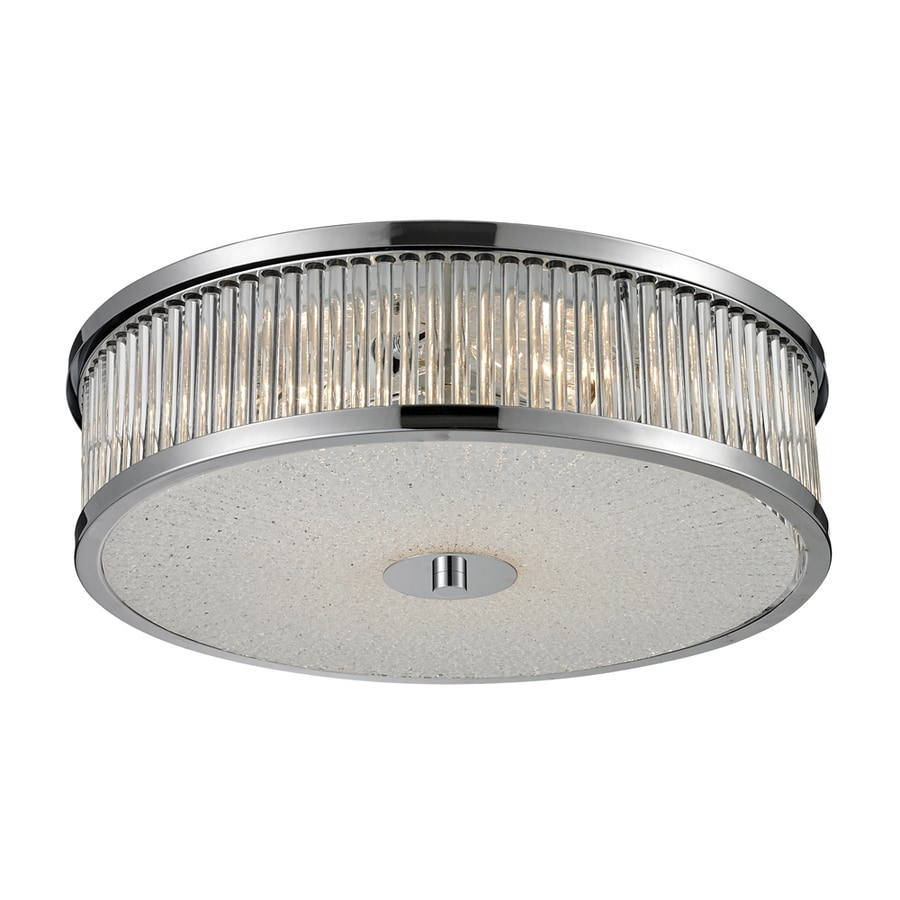 Westmore Lighting Cropton 16-in W Polished Chrome Flush Mount Light