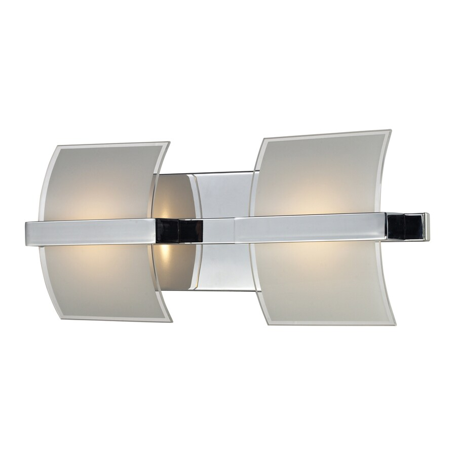 Westmore Lighting Aprokko 2-Light 7-in Polished chrome Geometric LED Vanity Light