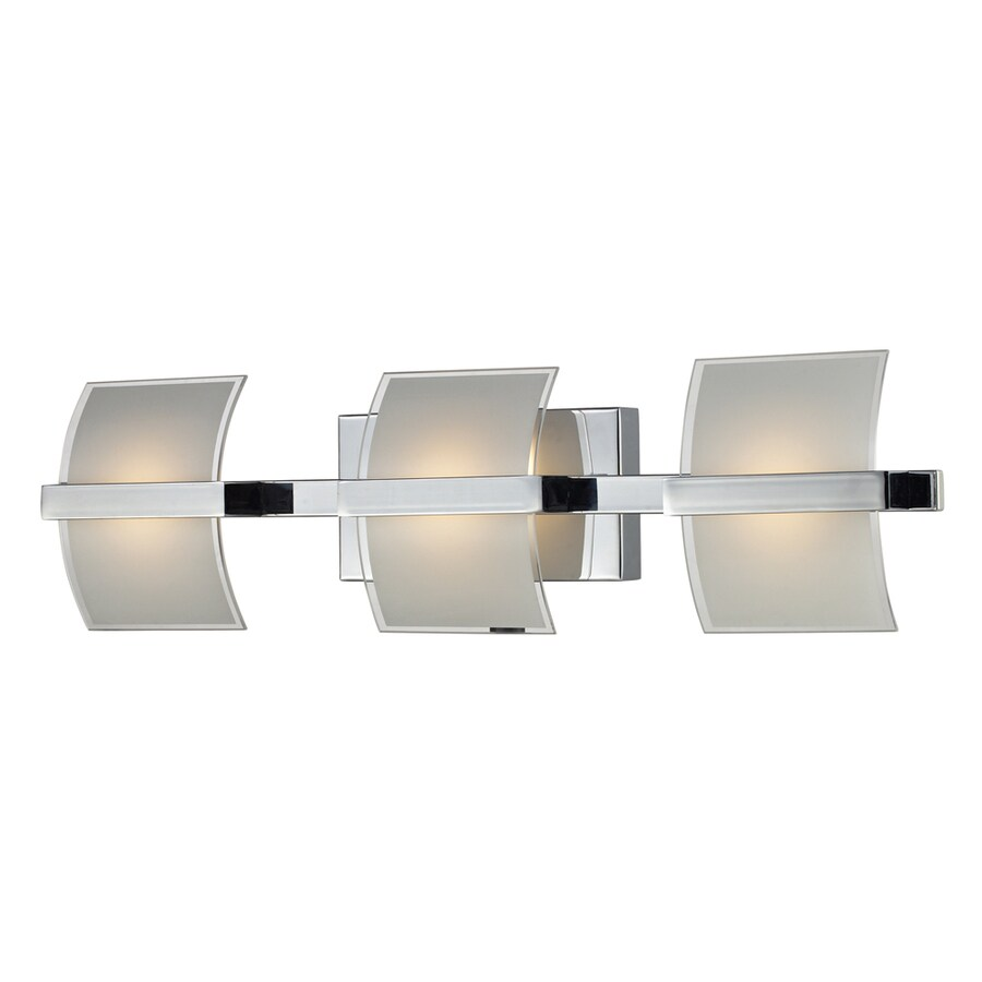 Delicieux Westmore Lighting Aprokko 3 Light 25 In Polished Chrome Geometric LED  Vanity Light
