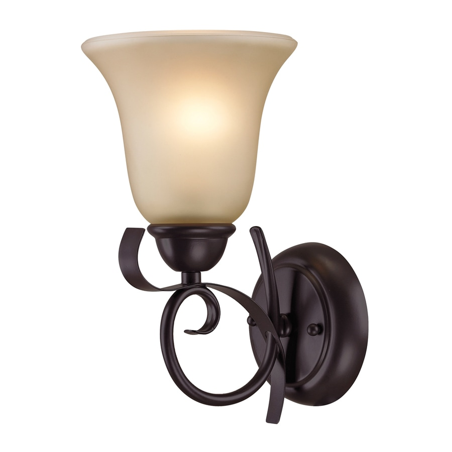 Westmore Lighting Colchester 6-in W 1-Light Oil Rubbed Bronze Arm Hardwired Wall Sconce