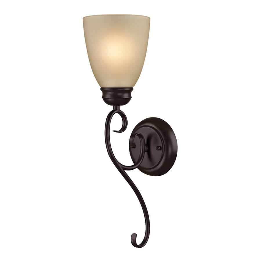Westmore Lighting Sunbury 5-in W 1-Light Oil Rubbed Bronze Arm Wall Sconce