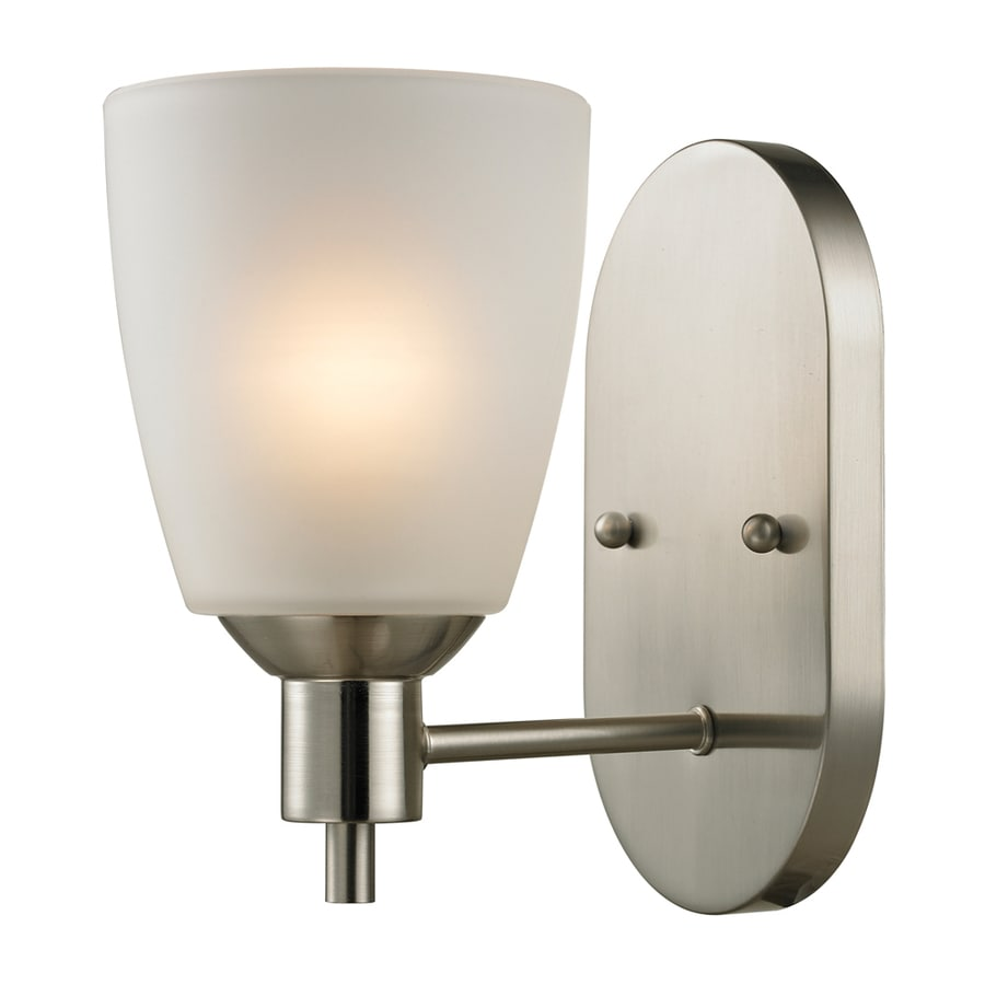 Shop Westmore Lighting Fillmore 5-in W 1-Light Brushed Nickel Arm Wall Sconce at Lowes.com