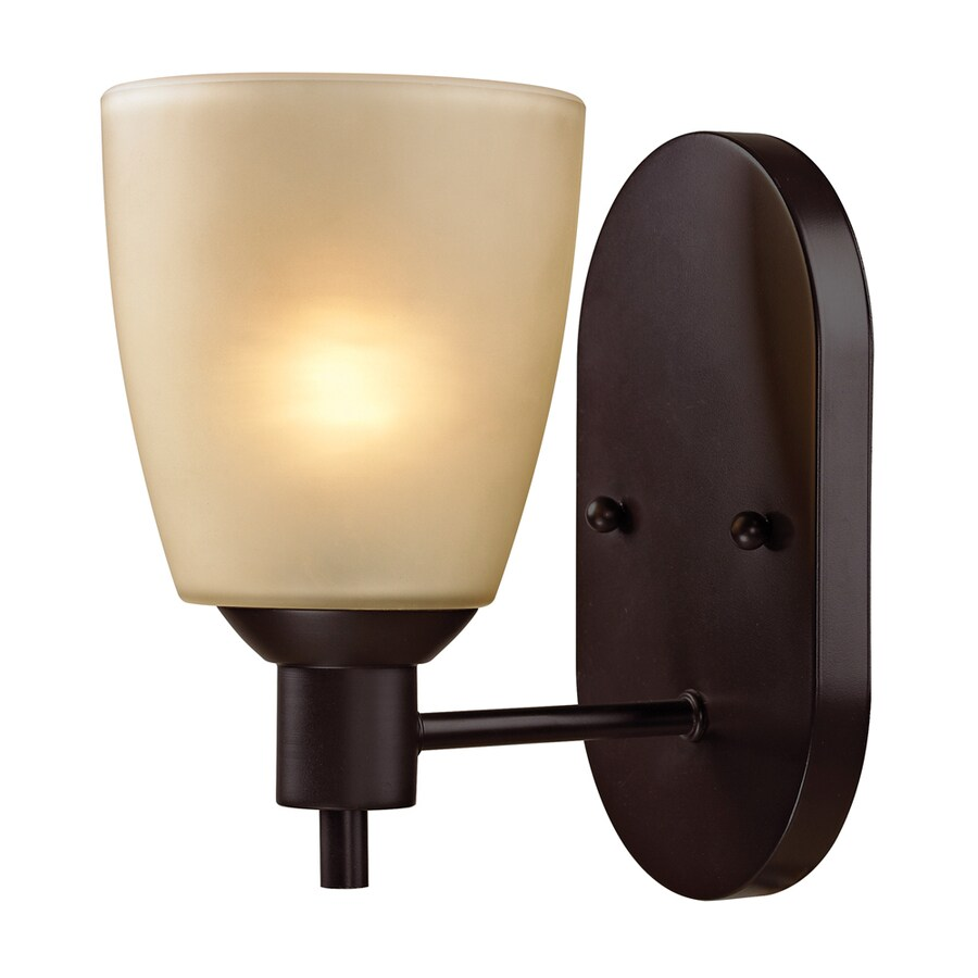 Westmore Lighting Fillmore 5-in W 1-Light Oil Rubbed Bronze Arm Hardwired Wall Sconce