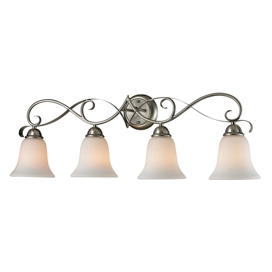 Westmore Lighting Colchester 4-Light 11-in Brushed Nickel Bell Integrated LED Vanity Light