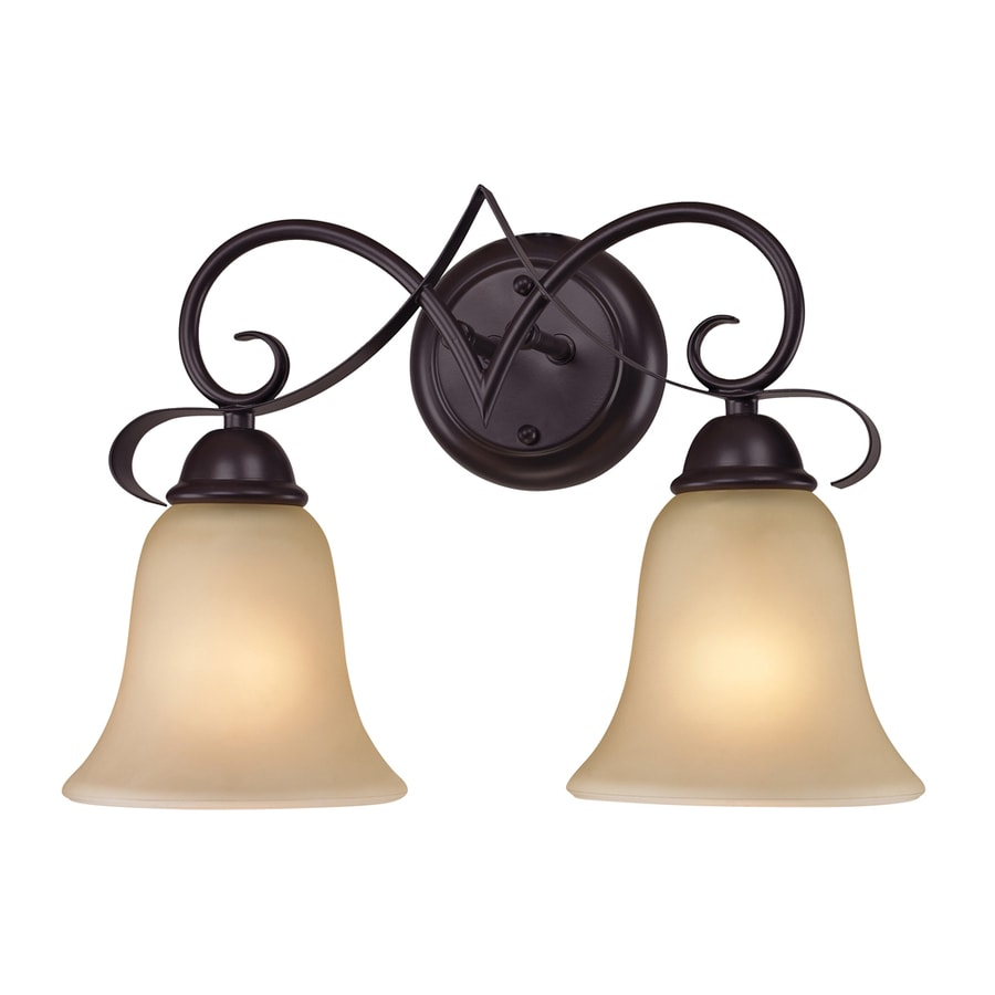 Westmore Lighting Colchester 2-Light Oil Rubbed Bronze Bell Vanity Light