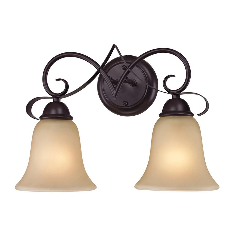 Westmore Lighting Colchester 2-Light 11-in Oil Rubbed Bronze Bell Vanity Light