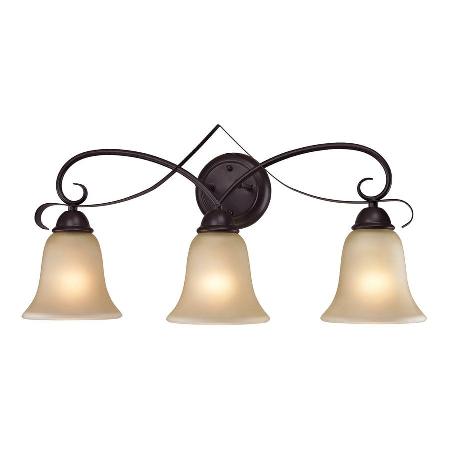 Westmore Lighting Colchester 3-Light 12-in Oil rubbed bronze Bell Vanity Light